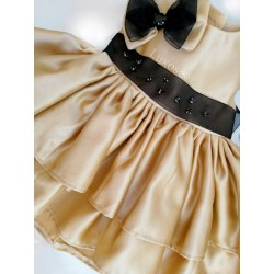 VESTITO NEONATA GOLD PRINCESS